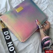bag,cute,colorful,bad,handbag,stylish,trendy,metallic,alien,cute top,metallic clutch,accessory bag