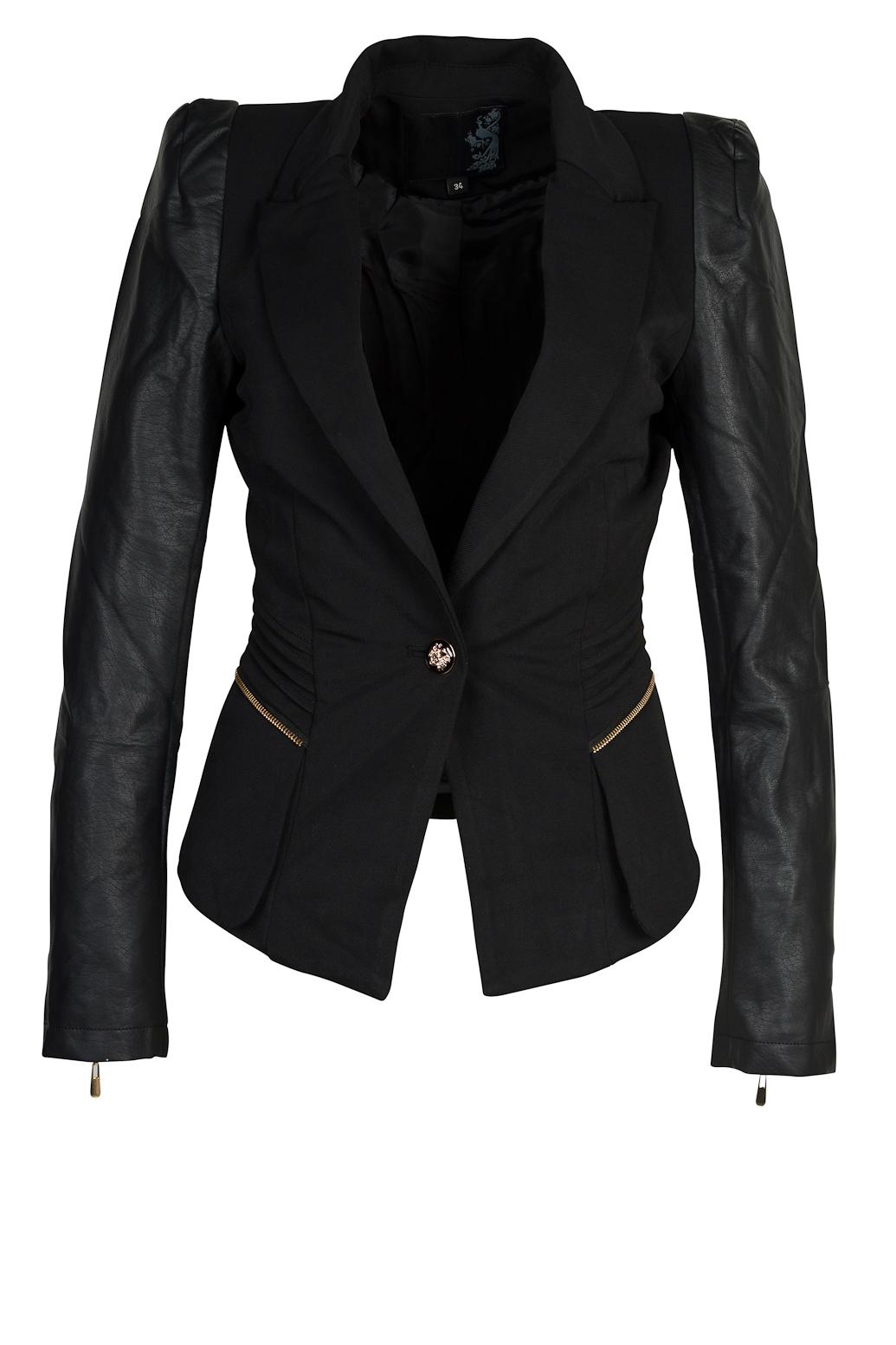 The Amazon | Webshop voor dameskleding :: Blazers & Vesten :: Klassieke Colbert - Zwart