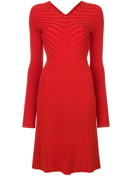 dress women wool red