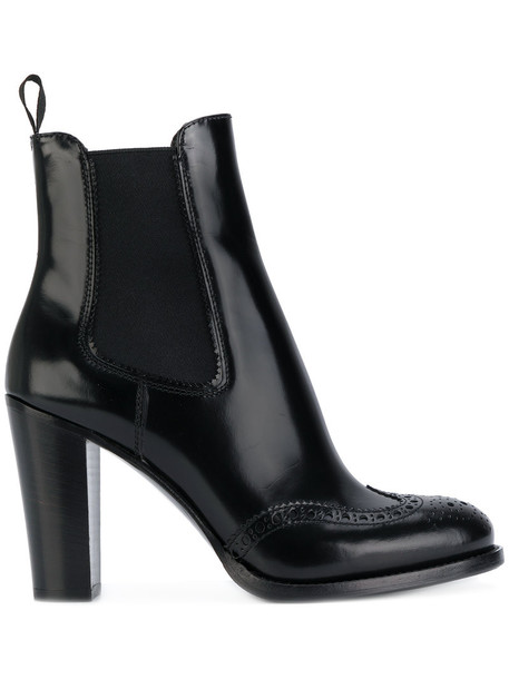 Church's women boots chelsea boots leather black shoes