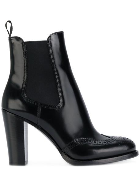 women boots chelsea boots leather black shoes