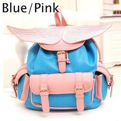 Online shop women angel wings backpack weekend bookbags fp164 travel bag satchel