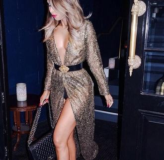 dress wrap dress gold new year's eve maxi dress