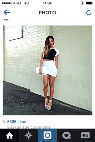 skirt white pencil skirt white skirt fashion shirt fashion blogger asos topshot miley cyrus kylie jenner pyrex rachelteetyler
