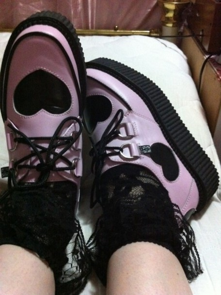 pink creepers heart