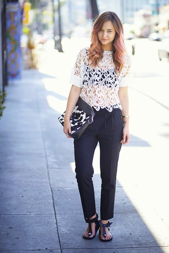 late afternoon pants t-shirt bag shoes jewels