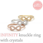 jewels,jewelry,ring,knuckle ring,infinity ring,infinity knuckle ring,anniversary ring,stakcing ring,eternity ring