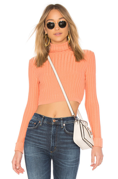 Lovers + Friends sweater girl coral