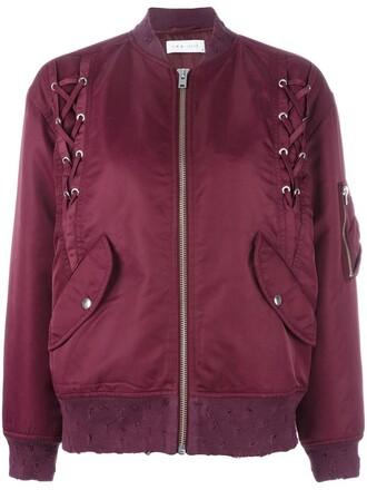jacket bomber jacket women lace red