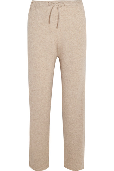 The Row - Pepita cashmere and silk-blend track pants