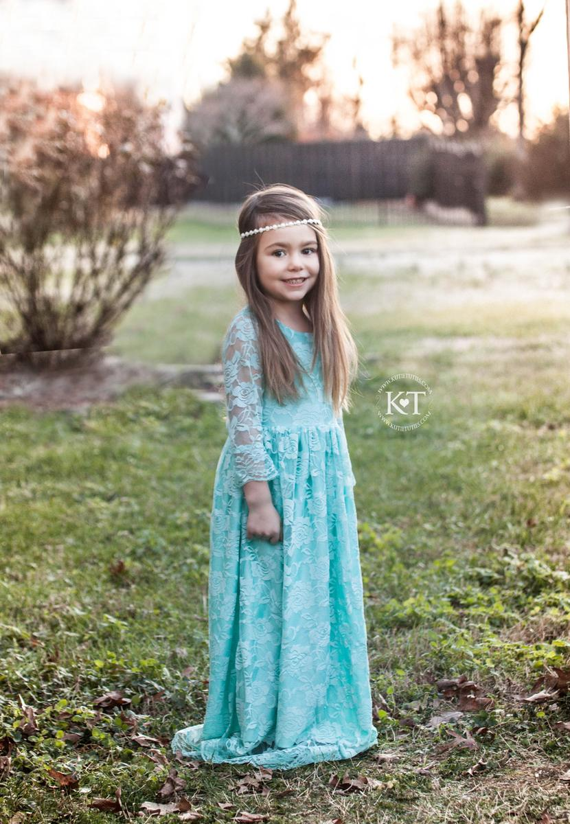 Discount 2016 Flower Girls Dresses For Wedding Lace Long Sleeve ...