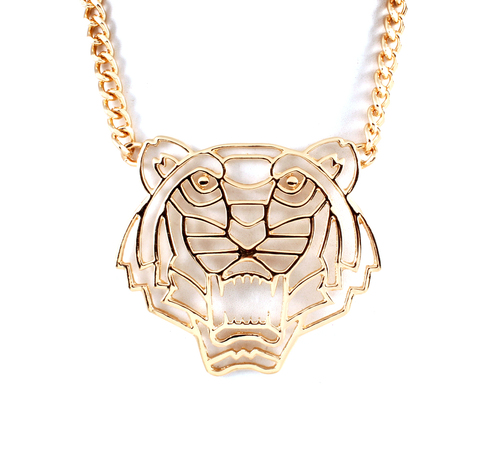 Hear Me Roar Tiger Chain Link Necklace