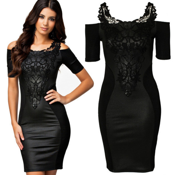Fashion hot lace one word dress