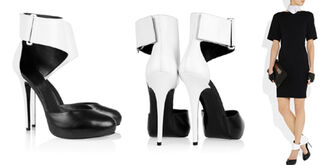 shoes heels stilettos karl lagerfeld black and white