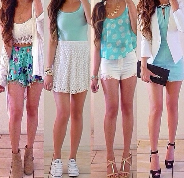 blouse shirt top short heels necklace bag skirt converse shorts dress teal dress anything