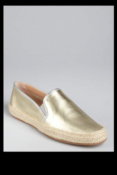 golden shoes flats loafers metallic sparkle closed in shoes vans