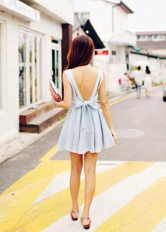 dress blue bow backless backless dress bow bow dress bow back dress blue blue dress light blue light blue dress periwinkle
