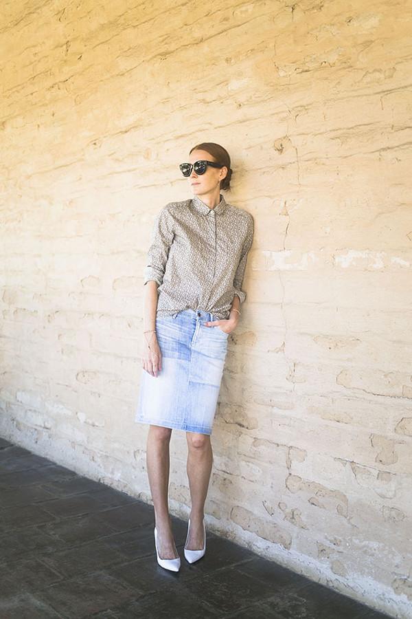 could i have that blogger blouse denim skirt