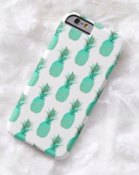 mint phone case tropical mintpineapple iphone6case