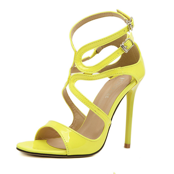 Europe fashion ribbon sexy pop toe women sandals YS-C4221-Lovelyshoes.net