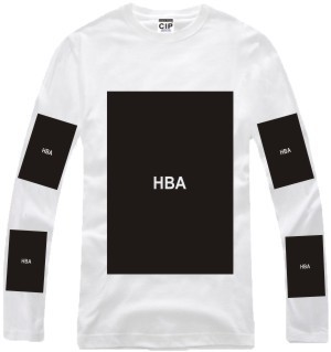 100% cotton big block design tee shirt hip hop t shirt stree fashion special tshirt Hood By Air HBA pyrex long sleeve t shirt-in T-Shirts from Apparel & Accessories on Aliexpress.com | Alibaba Group