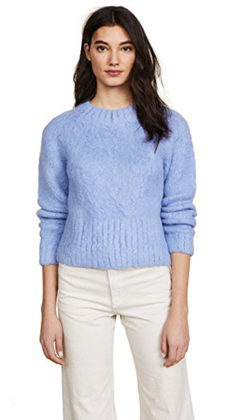 Rachel Comey pullover silver blue sweater