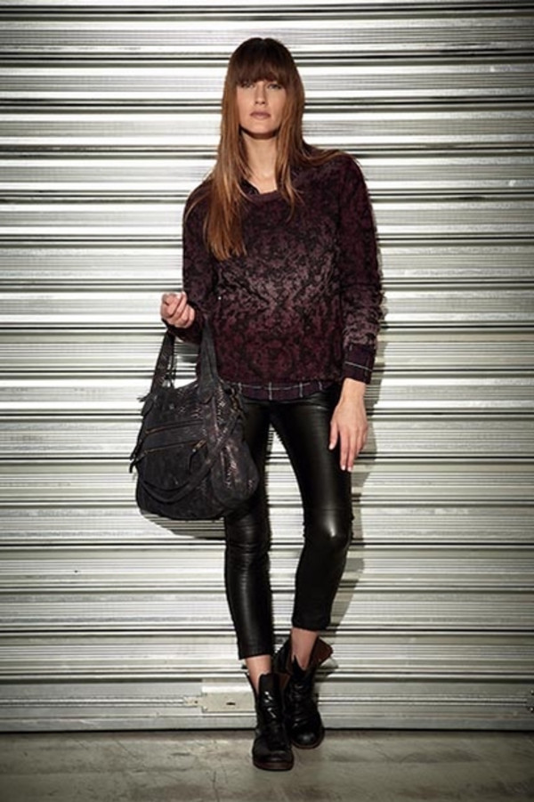 sweater berenice fashion lookbook shirt pants bag
