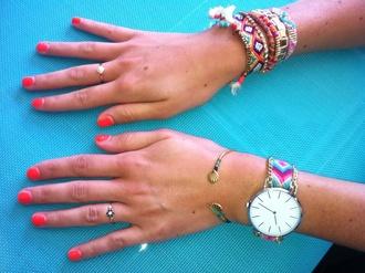 jewels watch aztec gold bangle boho jewelry hippie
