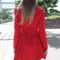 Red jacket - red long sleeve trench coat | ustrendy