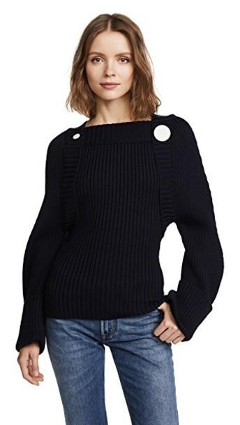 Jacquemus sweater wool sweater wool navy
