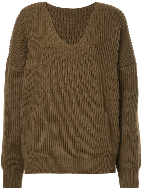 Cityshop jumper women wool brown sweater