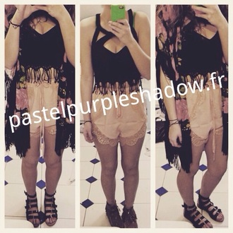 shorts coachella festival boho gypsy crop tops style fashion high waisted shorts boho shirt
