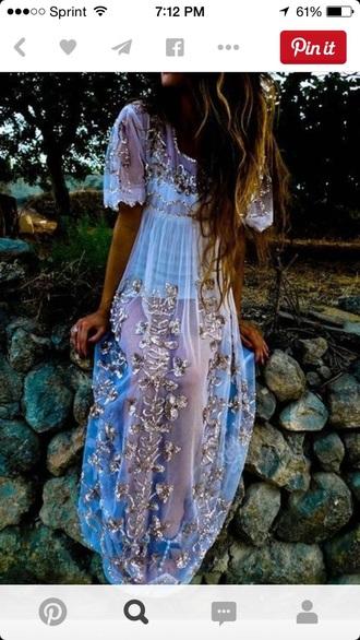 dress purple gorgeous shiny sparkle boho prom prom dress