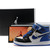 Blue/White/Black- Jordan 1 Phat Youth Kids Basketball Shoe -  $95.69 -  Jordan Kids Shoes Retro 1