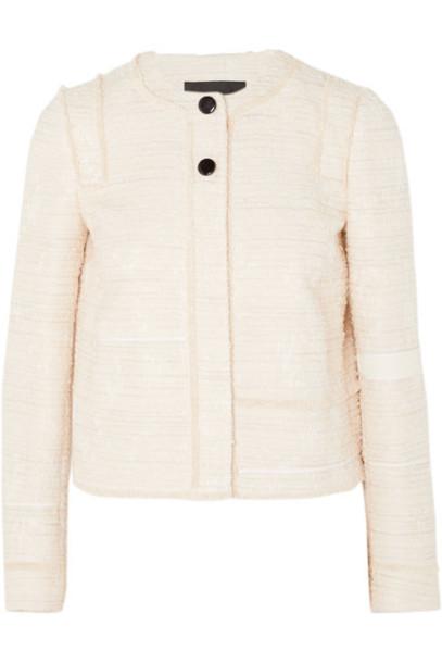jacket lady white cotton off-white
