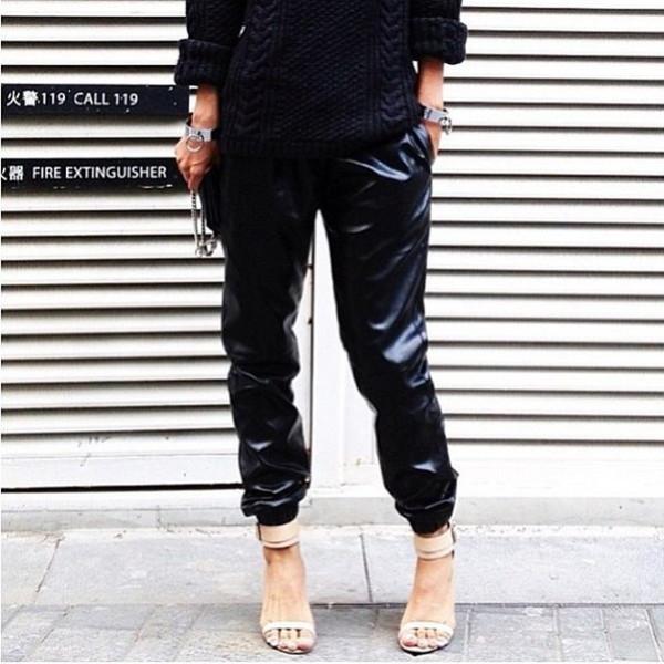 Givenchic leatherette track pant – glamzelle