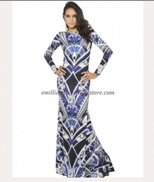 Long Dress Emilio Pucci - Purchase online at emiliopucci.com c1ba105e8