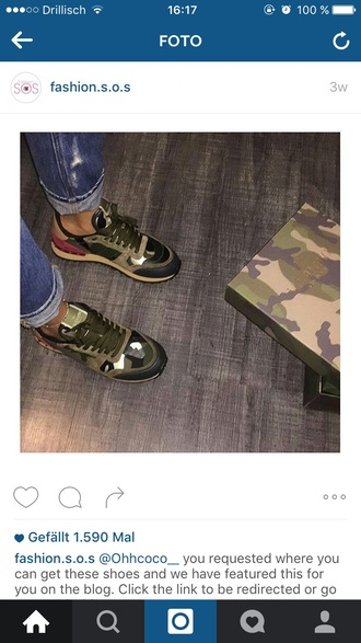 shoes valentino sneakers camoflauge shoes trainers