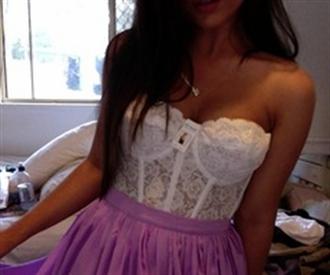 underwear cream crop top lace bralette bustier white crop tops skirt shirt