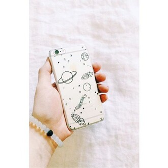 phone cover yeah bunny space moon stars cute clear universe yeahbunny leave me alone alone