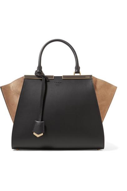 leather suede black bag