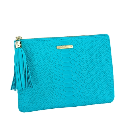 Aqua All in One Bag | Embossed Python Leather | GiGi New York