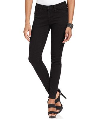Levi's skinny legging jeans, smooth black wash