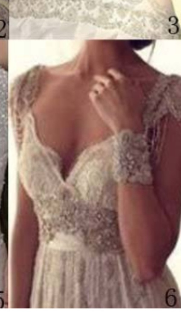 Luxury v neck anna campbell wedding dresses lace crystal for Where to buy anna campbell wedding dresses