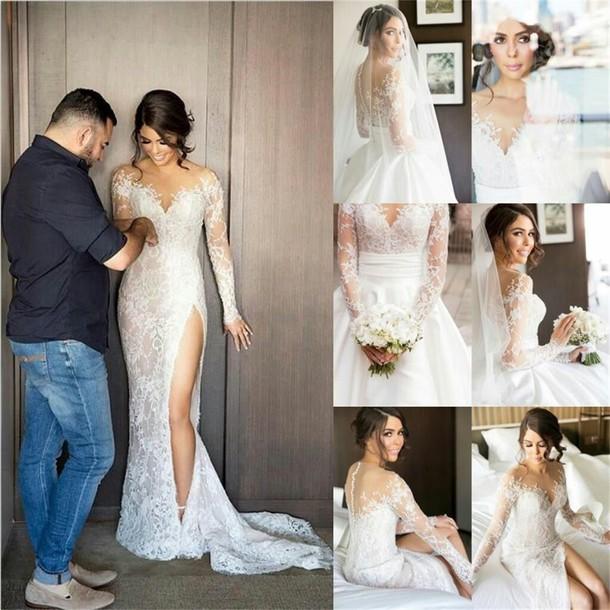 Dress Wedding Illusion Sheath Sheath Wedding Dress Sweetheart
