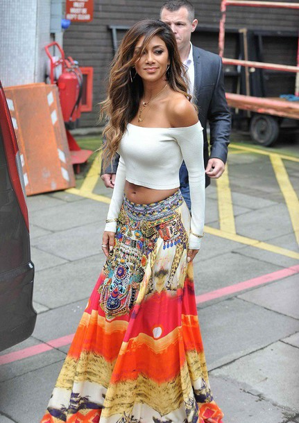 Skirt: maxi skirt, long dress, long skirt, nicole scherzinger ...