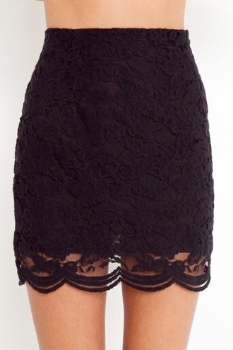 skirt black skirt lace skirt mini skirt