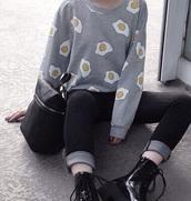sweater,grey,egg