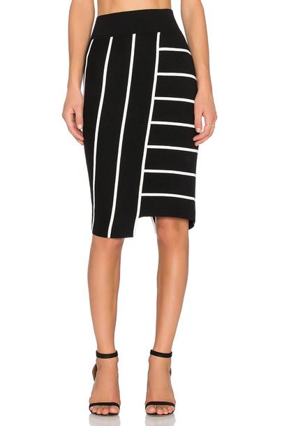 Bailey 44 skirt white black