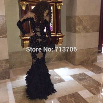dress mermaid prom black dress prom dress long dress tulle skirt